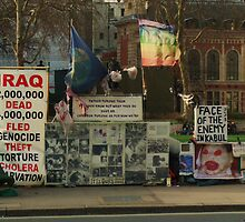 Anti-war demo on Parliament Square, 26th January 2008 by Andy76