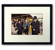 Boris Johnson visits Ealing in london Framed Print