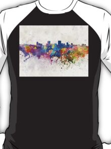 Anchorage skyline in watercolor background T-Shirt