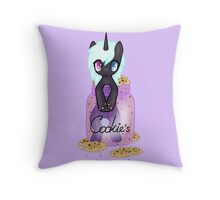 My little pony in a cookie jar Throw Pillow