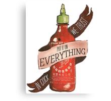 Sriracha Canvas Print