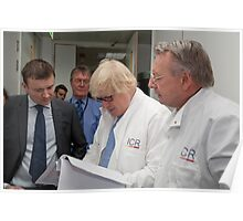 Boris Johnson visits the Institute of Cancer Research Poster