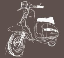 LAMBRETTA CUSTOM LINE ART DRAWING FOR GP200 by GASOLINE DESIGN