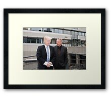 Boris Johnson with Professor Paul Workman Framed Print