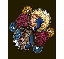 The Beauty and The Beast Disney - Main Scenes Photographic Print