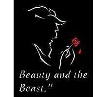 The Beauty and The Beast Disney - The Beast and The Rose Photographic Print