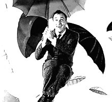 Singing in the rain Gene Kelly by River-Pond