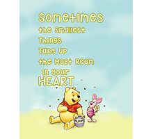 Winnie the Pooh - Firend Quote Disney Photographic Print