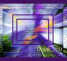 Thank you Framed Iris by TLCGraphics