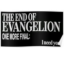 the end of evangelion, I need you Poster