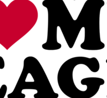 I love my Beagle Sticker
