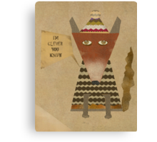 clever little fox Canvas Print