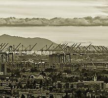 Cranes in Long Beach 1 by Nadim Baki