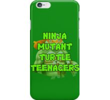 Ninja Mutant Turtle Teenagers Michelangelo iPhone Case/Skin