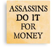 d20 Scoundrels: Assassins Do It For Money Canvas Print