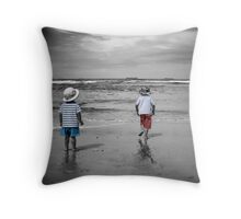 I Saw Three Ships Go Sailing By.... Throw Pillow