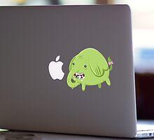 Mac Sticker - How's That Apple? - Tree Trunks by Alex Clark
