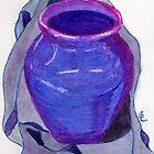 Blue Vase by Evelyn Smoldon