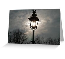 Sunlight Clouds lookingn Down Greeting Card