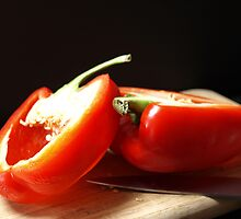 RED BELL PEPPER by SharonAHenson