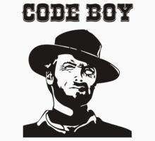 Code Boy Western Parody White Shirt for Programmers Kids Clothes