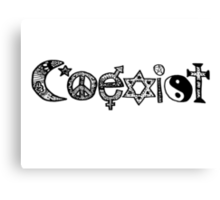 """Coexist"" Zentangle Canvas Print"