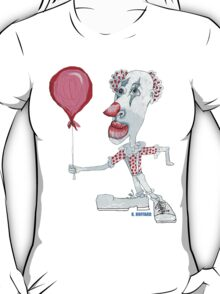 Circus Clown w. Red Ballon T-Shirt