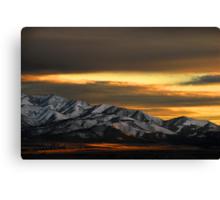 Saratoga Springs at Sunset Canvas Print