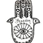 Freedom Hamsa by alexavec