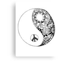 Hippie Yin Yang Canvas Print