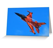 Flying Orange Greeting Card