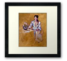 The Letter : oil painting on stretched canvas Framed Print