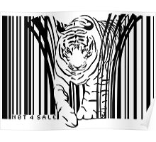 endangered TIGER BARCODE illustration Poster