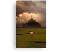 Sunset over Saint Michel Mont Canvas Print