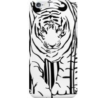 endangered TIGER BARCODE illustration iPhone Case/Skin