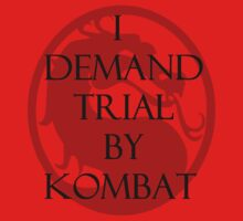 Trial by Kombat Kids Clothes