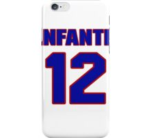 National baseball player Omar Infante jersey 12 iPhone Case/Skin