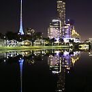 Reflections of a city by melbourne