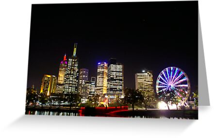 City at night by melbourne