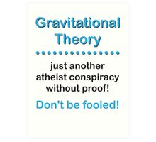 Gravitational Theory Art Print