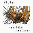 Fixie - one bike, one gear (white) by Stefan Trenker