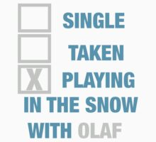 PLAYING WITH  OLAF  by sayers