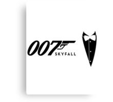 James Bond Tribiute(skyfall) Canvas Print