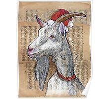 Christmas Goat Poster