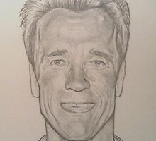 Arnold Schwarzenegger drawing by RobCrandall