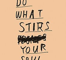 DO WHAT STIRS YOUR SOUL by Steve Leadbeater