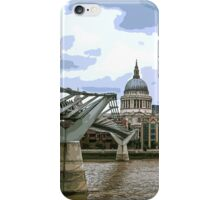 View of St Paul's Cathedral over Millennium Bridge by Tim Constable iPhone Case/Skin