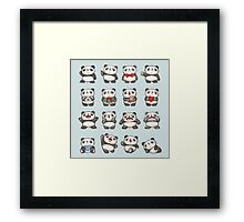 Various feeling of Panda Framed Print