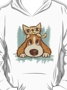 Sketch of kitten and dog T-Shirt