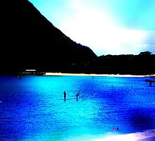 Stand Up Paddle Boarding At Shoal Bay by Ian Mooney